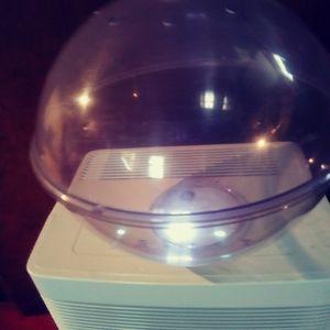 A plastic terrarium